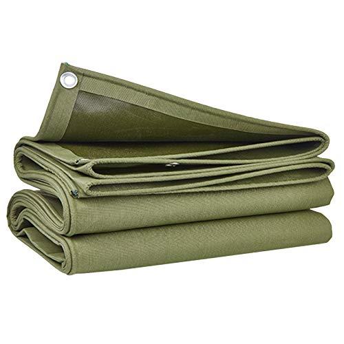 Lona De Lona Verde De Alta Resistencia, Revestimiento De PVC De Una Cara Impermeable Y Protector Solar para Camping Camión con Ojales 600 G/M²(Size:4×5M)