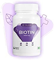 Trizen Biotin - High Potency 10000 mcg Biotin for Hair, Skin, Nail - 60 Tablets