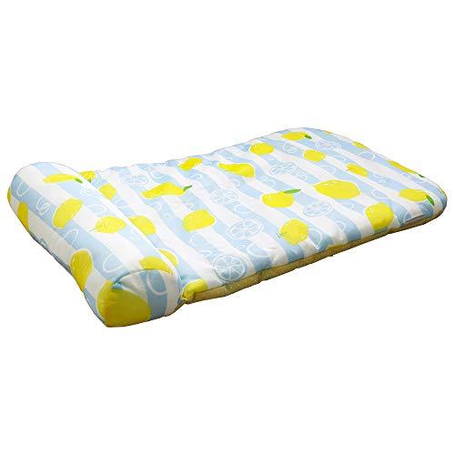 ドギーマン クールズ 枕付きマット レモンブルー レモングレー