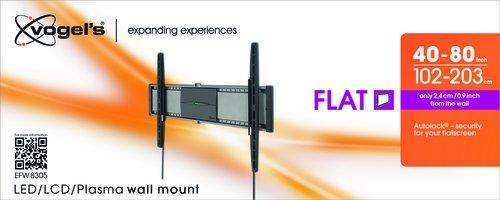 Vogel's EFW 8305, Ultra forte support mural pour très grand (102-203 cm, 40-80 Pouces) ou très lourd (max. 70 kg) Téléviseurs, Fixe, VESA max. 800x450 mm, noir