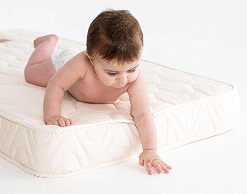 Matelas à mémoire de forme pour lit bébé 117 x 57 x 10 cm