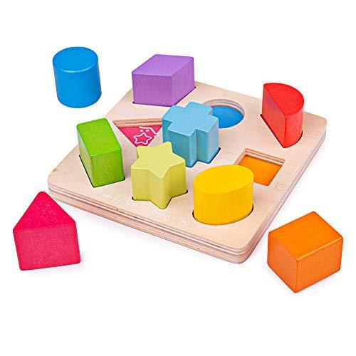 Bigjigs Toys Mon Premier Trieur de Formes | Jouet pour Enfant | Cadeau Enfant | Joeut Traditionnel | Apprendre en Jouant