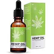 Hemp Oil Extract Drops for Pain Relief - 5000 MG Anti Anxiety, Promotes Relaxation, Full Spectrum Extract, Organic Natural Hemp Seed Oil with Omega 6, 9 Fatty Acids