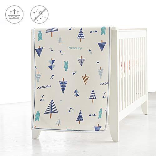 YJFENG Mat, Ramie Tencel Bamboo Fiber Baby Ice Silk Mat Comfortable And Breathable Kindergarten Children Nap Summer Baby Mattress (Color : A, Size : 130x70cm)