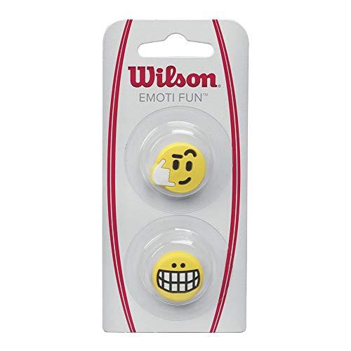 Wilson Emoti-Fun, Antivibrazione per Racchetta, Stile Chiamami/Risata Unisex – Adulto, Giallo, 2 Pezzi