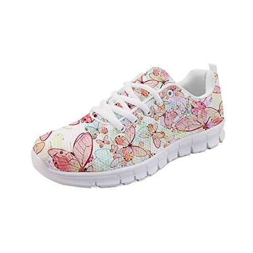 Seanative - Zapatillas deportivas deportivas para correr para mujer, color Rosa, talla 41.5 EU