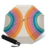 Paraguas plegable de viaje, Boca Sonar automático TRIF-Old a prueba de viento para mujeres con protección UV Auto Open & Close
