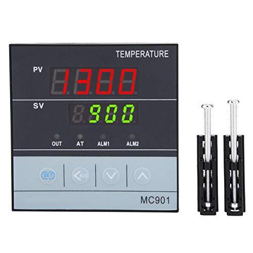 Controlador de temperatura PID digital MC901, K Tipo PT100 Sensor Medidor Indicador Entrada Relé SSR Salida