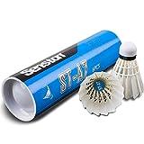 Senston A7 6 Piezas Estabilidad Volantes de Bádminton Juego de Plumas Badminton White Duck Badminton Ball Indoor Outdoor Entrenamiento Deportes Badminton