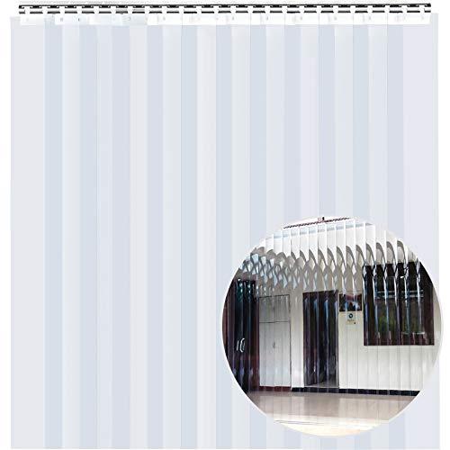 Mophorn 12PCS Plastic Curtain Strips, 48Inch (4ft) Width X 84Inch (7ft) Height PVC Strip Door Curtain, 0.08 Inch Thickness Vinyl Strip Door Curtain 50% Overlap for Doors