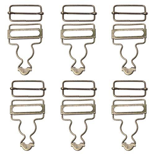 JIACUO 6 Sätze Hosenträger Schnallen Gurt Einsteller Verschluss Clip Für Kleidungsstück Metallschnallen