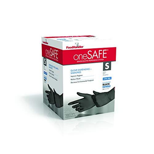 oneSAFE 103-1SF214BK oneSAFE Nitrile MD Black (Pack of 1000)