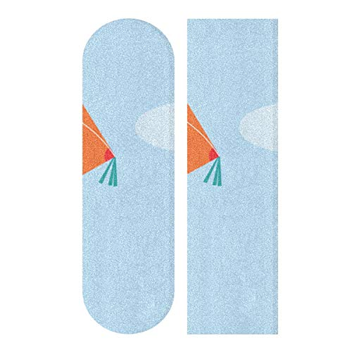N\A 33.1x9.1inch Sport Outdoor Skateboard Griptape Kite Fliegen Leichter Druck Wasserdichtes Skateboard Grip Tape Für Tanzbrett Double Rocker Board Deck 1 Blatt