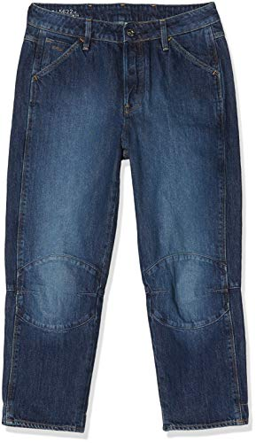 G-STAR RAW Damen 5622 3D High Waist Boyfriend 7/8-Length Jeans, Blau (medium Aged 9436-071), 31W / 32L