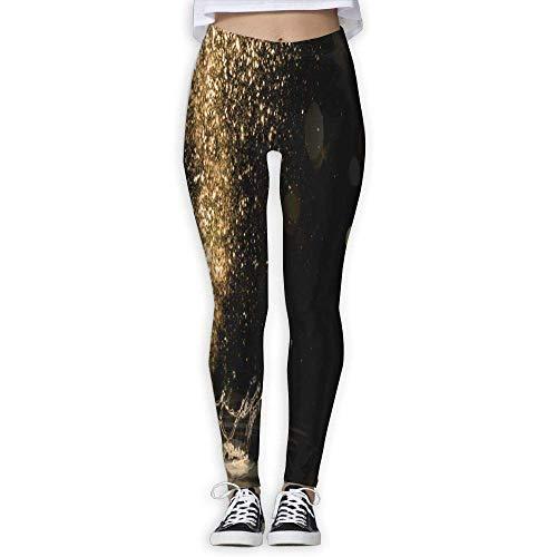 Ewtretr Yoga Pilates Hosen Fitnesshose für Damen, Water Splash Printed Leggings Full-Length Yoga Workout Leggings Pants