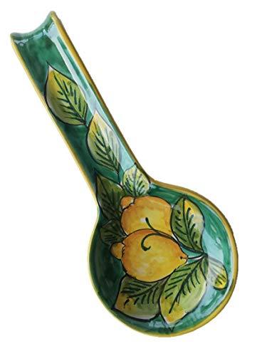 Centro Ardolino Poggiamestolo in Ceramica di vietri Dipinto a Mano