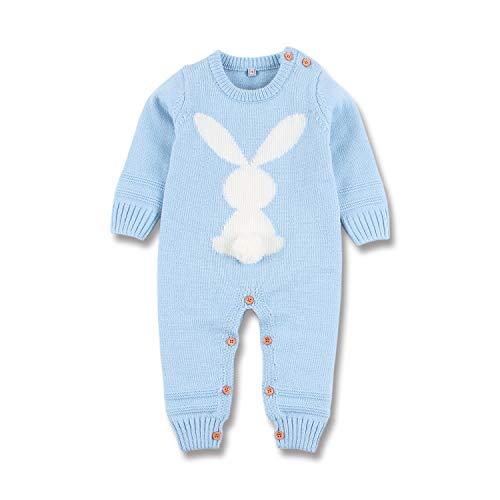 mimixiong Baby Kinder Mädchen Junge Strampler Overall Osterhasen Outfits Kleidung(Blau,18-24 Monate)