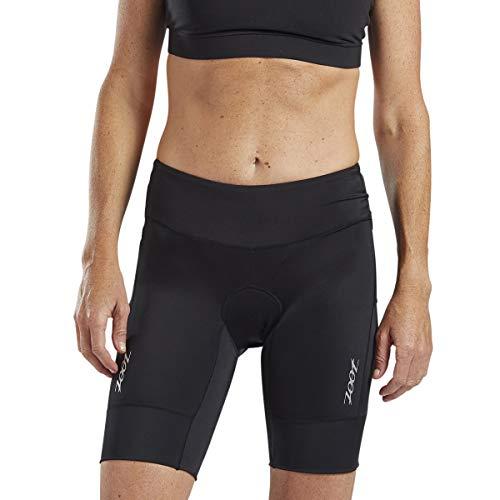 Zoot Core Damen 8 Zoll Tri-Shorts – Performance Triathlon Shorts Endura Stoff Hip Holster Taschen, Damen, schwarz, Medium