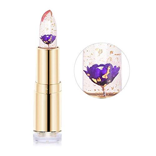Allbesta Make-Up Lippenstift mit Blume Transparent Natürlichen Roten Temperatur Farbwechsel...