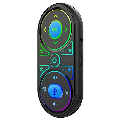 BANAN IR Aprendizaje retroiluminado Air Mouse Smart Voice Control remoto recargable Air Mouse 2.4G retroiluminado voz control remoto aire ratón teclado para caja de TV