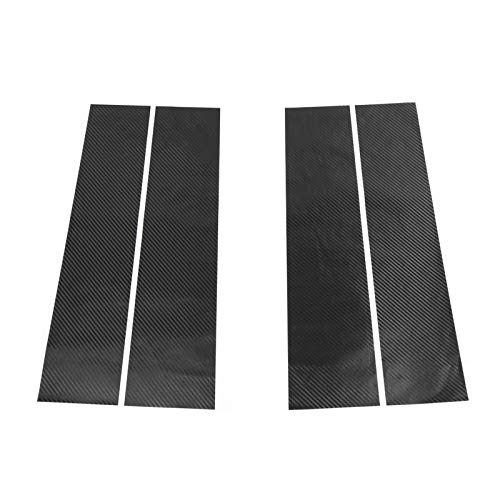 Flymotor Kit de pegatinas de fibra de carbono para postes de ventana Fo-rd F150 F-150 Supercab