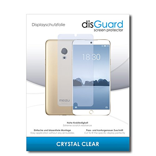 disGuard® Bildschirmschutzfolie [Crystal Clear] kompatibel mit Meizu M15 [2 Stück] Kristallklar, Transparent, Unsichtbar, Extrem Kratzfest, Anti-Fingerabdruck - Panzerglas Folie, Schutzfolie