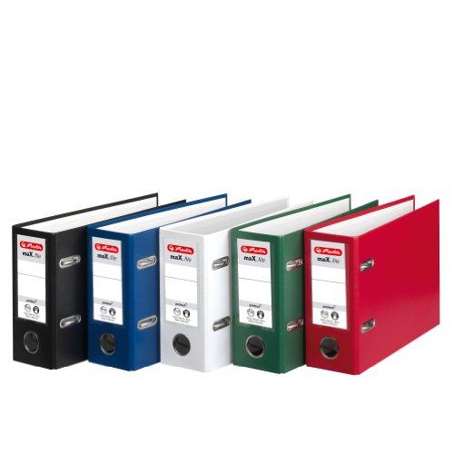Herlitz 5276001 Ordner maX.file protect A5 quer, FSC Mixed (Farben sortiert)