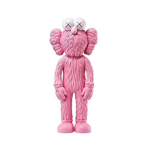 ZHAOHUIYING Carácter KAWS Sesame Street Fashion Model Collection Decoración 30 Cm Pink-30cm