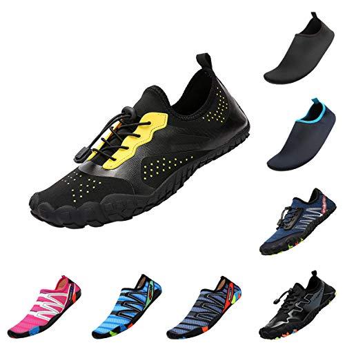 QIMAOO Barefoot Skin Water Schoenen Sokken, Mannen Vrouwen Snelle Droge Water Sport Schoenen, Unisex Aqua Schoenen voor Zwemmen Surf Yoga Strand Hardlopen Boating Snorkeling Duiken