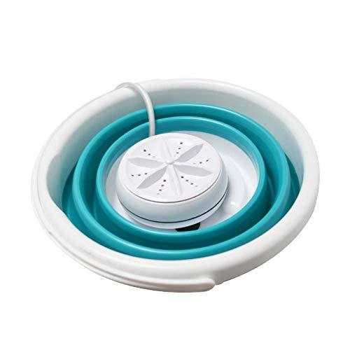 Giow Mini S, tragbar, mit Schleudermaschine, Reinigungsausrüstung, Obst, Gemüse, Schlafsaal, Camping, ideal für Reisen, Blue10L Blue10l