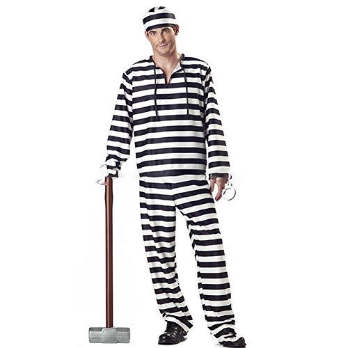 LXJ Halloween Jurk Voor Vrouwen Liefhebbers Horror Bloedige Zombie Mannen Kleding Gevangene Vermomming Carnaval Masquerade Streep Enge Kostuums