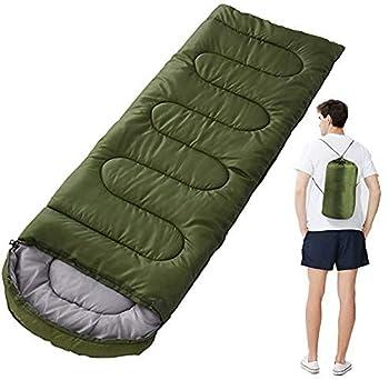 VANGALOO Sac de couchage sarcophage pour adulte - Équipement de camping - Pour le sommeil en plein air - 180 x 75 cm - Protection contre le froid (vert)