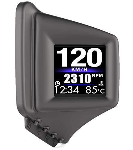 品 HUD 高精度 スピードメーター ヘッドアップディスプレイ AP-1 OBD2 GPS 両方同時対応 タコメータ 車載スピードメーター 時速をフロントガラスに 過速度警告搭載