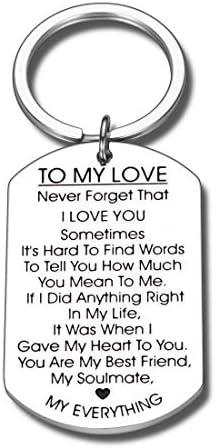 to My Love Keychain Gift for Husband Wife Anniversary Valentines Day Birthday Boyfriend Girlfriend product image