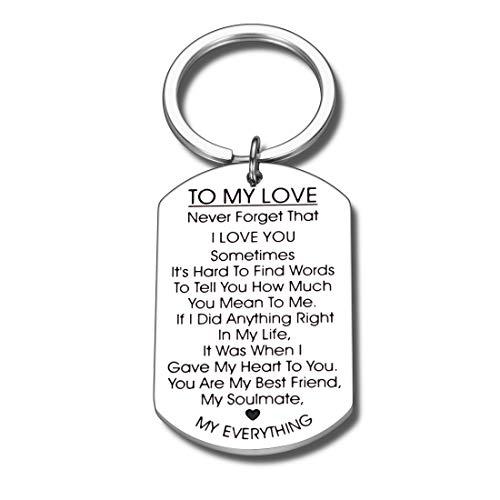 to My Love Keychain Gift for Husband Wife Anniversary Valentines Day Birthday Boyfriend Girlfriend Jewelry for Soulmate Lover Him Her Women Men Best Friend Family