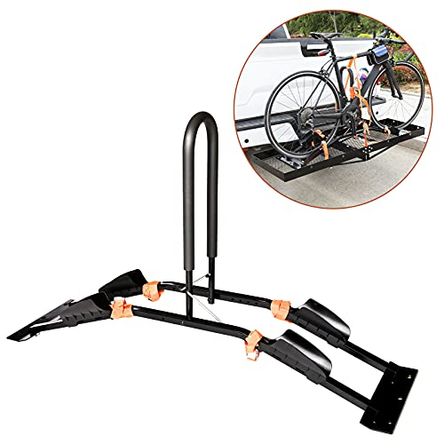 MYCAN Bike Rack Attachment for Hitch Cargo Carrier with Mesh Base, Fits 2 Bicycles(Assembly Required)