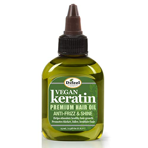 Difeel Vegan Keratin Premium Hair Oil - Anti Frizz & Shine 2.5 oz.