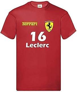 "Maglietta T-Shirt PER BAMBINI Ferrari Formula Uno""16 Leclerc""""55 Sainz"" F1 2021 Inspired"