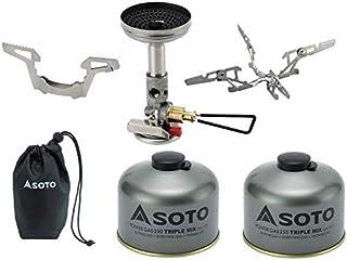 SOTO マイクロレギュレーターストーブウインドマスターSOD-310+パワーガス250TM 2本+4本ゴトク(ハードケースなし)