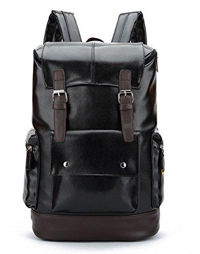 beibao shop Backpack Sacs à Dos pour Ordinateur Portable Hommes Peau de PU Grande capacité Épaule Extérieur Multi-Fonctionnel Sac à Dos d'ordinateur