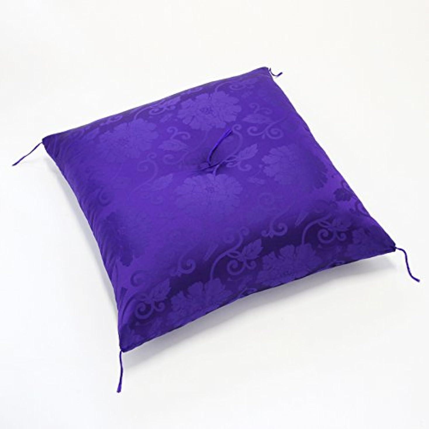 キラウエア山社会科すぐに古稀?喜寿用 祝寿 座布団 紫