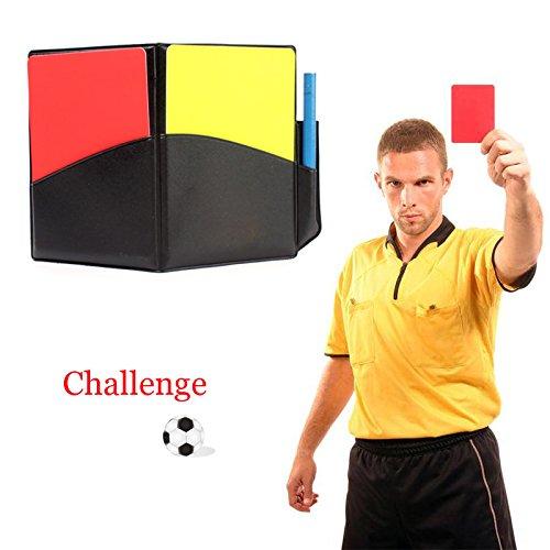 Zhuotop Fußball Sport Schiedsrichter Karten-Set rote Karte Gelbe Karte für Fußball