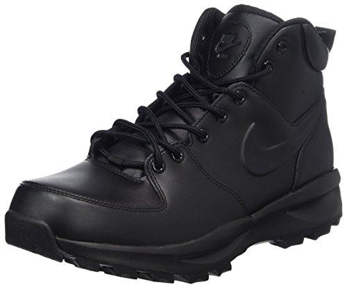 Nike ACG Manoa Leather Mens hi top Boots 454350 Sneakers Shoes (US 8.5, Black Black Black 003)