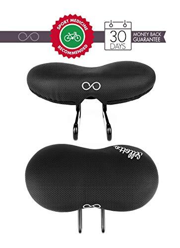 sellOttO Condor | Sella Ammortizzata Anti Prostatite Vulvite Dermatite in Gel |Ideale per Bicicletta E-Bike Pieghevole Scatto Fisso MTB Mountain Corsa
