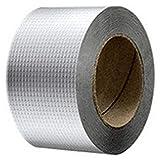 SNOWINSPRING Newly Aluminum Foil Butyl Rubber Tape Self Adhesive Waterproof for Roof Pipe Marine Repair-10Cm x...