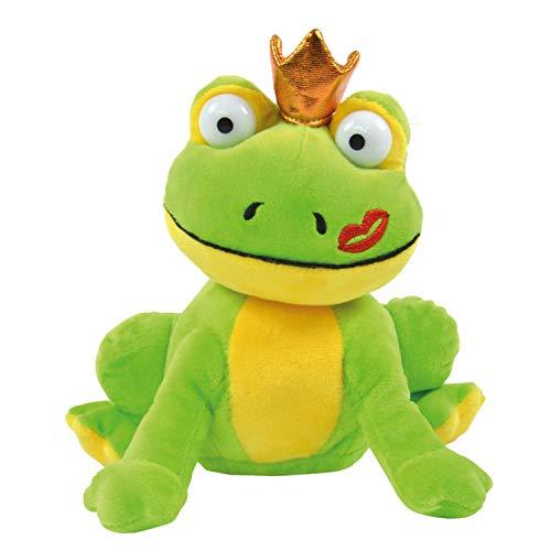 Kögler 75630 Laber Frosch Otto, Labertier mit Aufnahme-und Wiedergabefunktion, plappert Alles witzig nach und bewegt Sich, ca. 18 cm groß, Jungen und Mädchen, grün