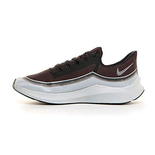 Nike \ Men's Air Zoom Winflo 6 Shield Running Shoes (13, Black/Grey-M)