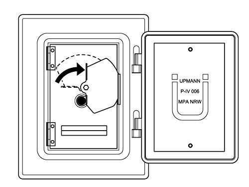 Kamintüre/Schornsteintüre 210 x 140 mm mit Rußschutztüre & 60 mm Schiebestutzen