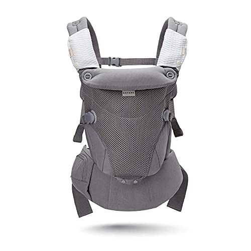 Bbpark Mesh Baby Carrier Newborn to Toddler, Facing-in and Facing-Out Front and Back Holder Kangaroo Carrier for Infant, Grey