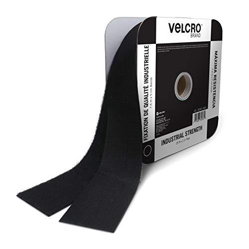 VELCRO 30081 粘着テープ | 25フィートバルクロール 幅2インチ | 耐荷重10ポンド ブラック | 工業用強度 強力ホールド 屋内屋外用